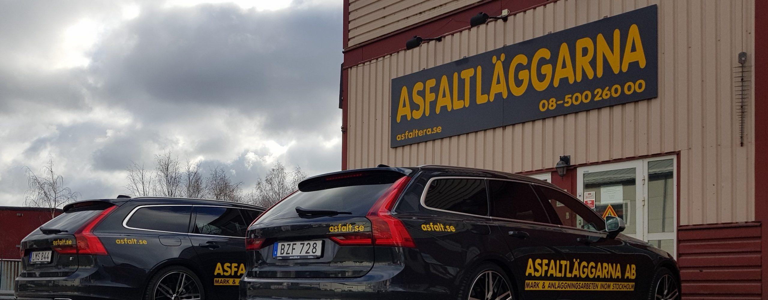 asfaltera-uppfart-företagsbil